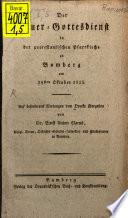Der Trauergottesdienst in der protestantischen Pfarrkirche zu Bamberg