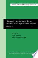 History of Linguistics in Spain/Historia de la Lingüística en España