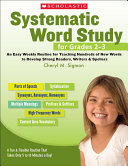 Systematic Word Study for Grades 2 3