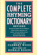 The Complete Rhyming Dictionary Revised