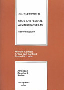 State and Federal Adminiatrative Law