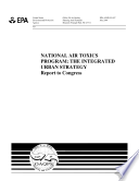 National air toxics program the integrated urban strategy  report to Congress