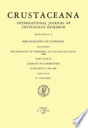 Bibliography of Copepoda  Up to and Including 1980
