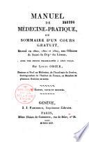 Manuel de medecine pratique