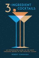 3-Ingredient Cocktails Book