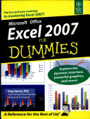 Microsoft Excel 2007 for Dummies