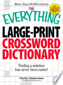 The Everything Large Print Crossword Dictionary