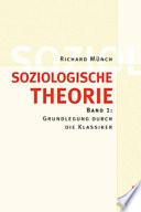 Soziologische Theorie  Bd  1