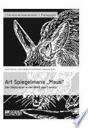 """Art Spiegelmans """"Maus"""". Der Holocaust in der Welt des Comics"""