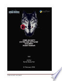 Cyber Security System And Software Document