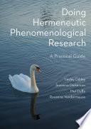 Doing Hermeneutic Phenomenological Research