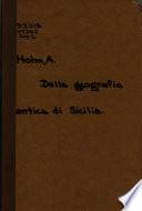 Della geografia antica di Sicilia