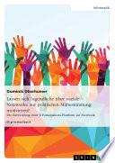 Lassen sich Jugendliche über soziale Netzwerke zur politischen Mitbestimmung motivieren?