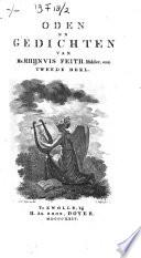 Oden En Gedichten Van Rhijnvis Feith