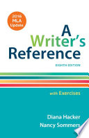A Writer s Reference with Exercises with 2016 MLA Update