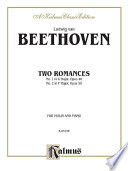 Two Romances  Op  40 and 50