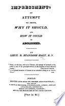 Impressment  an attempt to prove why it should  and how it could be abolished