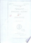 Instructions to Applicants for Appointment as Special Agent
