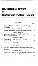 International Review of History and Political Science