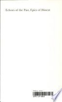 Echoes of the Past  Epics of Dissent