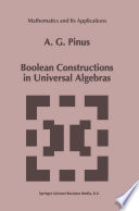 Boolean Constructions in Universal Algebras
