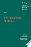 Kant  The Metaphysics of Morals