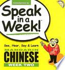 Speak in a Week Mandarin Chinese