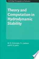 Theory and Computation of Hydrodynamic Stability