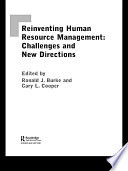 Reinventing HRM : format and self-reflection. this significant text...