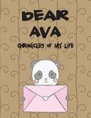 Dear Ava  Chronicles of My Life Book PDF