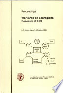 Proceedings  Workshop on Ecoregional Research at Ilri