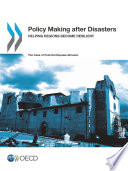 Policy Making after Disasters Helping Regions Become Resilient     The Case of Post Earthquake Abruzzo