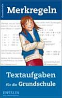 Merkregeln: Textaufgaben für die Grundschule