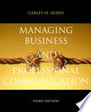 Managing Business   Professional Communication