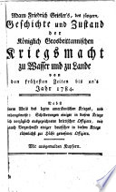 Adam Friedrichŝ Geisler's Geschichte und Zustand der Königlich-Grosbrittanischen Kriegsmacht zu Wasser und zu Lande von den frühesten Zeiten bis an's Jahr 1784