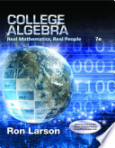 College Algebra  Real Mathematics  Real People