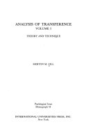 Analysis of Transference