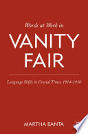 Words at Work in Vanity Fair