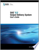 SAS 9 3 Output Delivery System