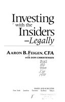 Investing with the Insiders  Legally Book PDF