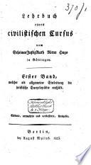 Lehrbuch eines civilistischen Cursus