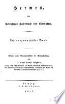 Hermes, Oder, Kritisches Jahrbuch Der Literatur