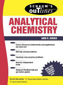 Schaum s outline of theory and problems of analytical chemistry