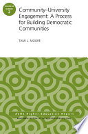 Community University Engagement  A Process for Building Democratic Communities