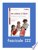 Fascicule III : Sur la référence obligée