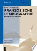 Franz  sische Lexikographie