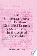 The Correspondence of Christian Gottfried Krause