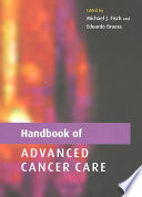 Handbook Of Advanced Cancer Care book