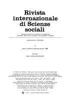 Rivista internazionale di scienze sociali