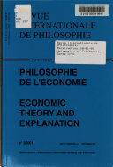 Economic Theory and Explanation